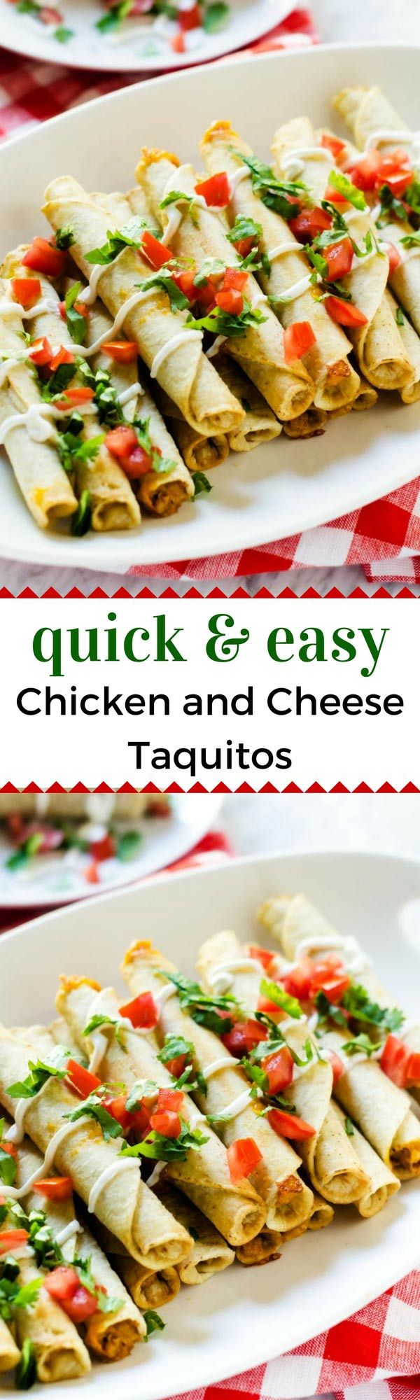Quick & Easy Chicken and Cheese Taquitos -  Looking for an  easy after-school snacking solution?  Try these Quick & Easy Chicken and Cheese Taquitos and your kids will thank you for it. #JustSayOle #ad  @joseolecentral (Mexican Recipes For Kids)
