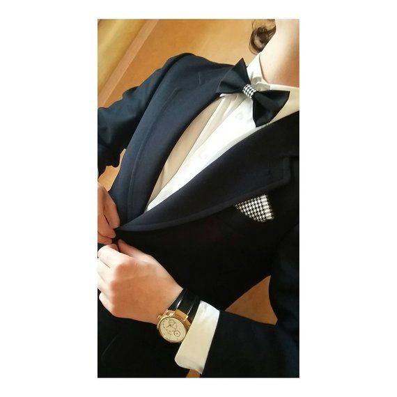 ampia selezione di design grande sconto alta qualità Men's bow tie with pocket handkerchief | Men's accessories ...