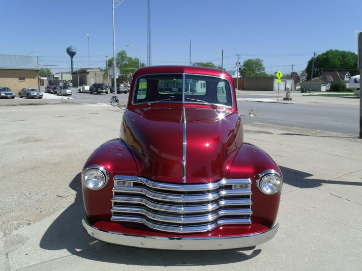 1950 Chevy pickup with a 4 cylinder Cummins.