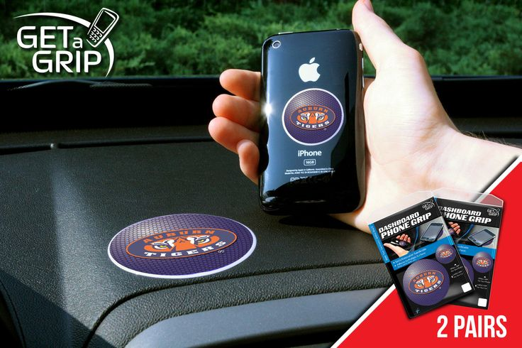 """Auburn University Get a Grip 2 Pack - Let your favorite team get a grip on your device! Never wonder where your phone is again. This new product innovation utilizes two polymer grips that adhere to each other leaving you hands free. UAV Resistant. No residue left behind. Now comes in a 2 Pack FANMATS Series: 2GETAGRIPTeam Series: Auburn UniversityProduct Dimensions: small 1.5"""" / large 3""""Shipping Dimensions: 8""""x6""""x1"""". Gifts > Licensed Gifts > Ncaa > All Colleges > Auburn University. Weight…"""