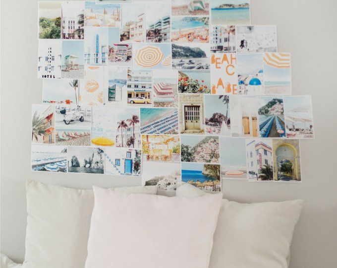 Travel Addict Gallery Wall Art Pink Room Decor Collage Kit Etsy