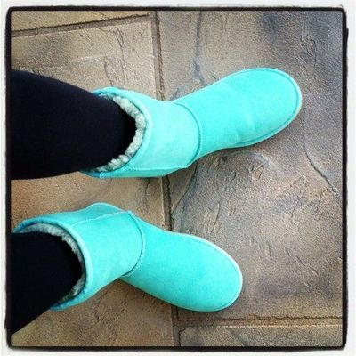 Tiffany blue uggs! Perfection for feet.
