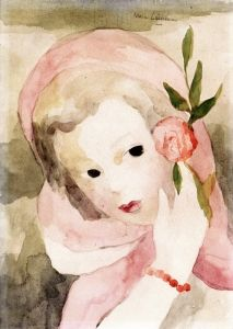 Girl with a Rose - Marie Laurencin - The Athenaeum