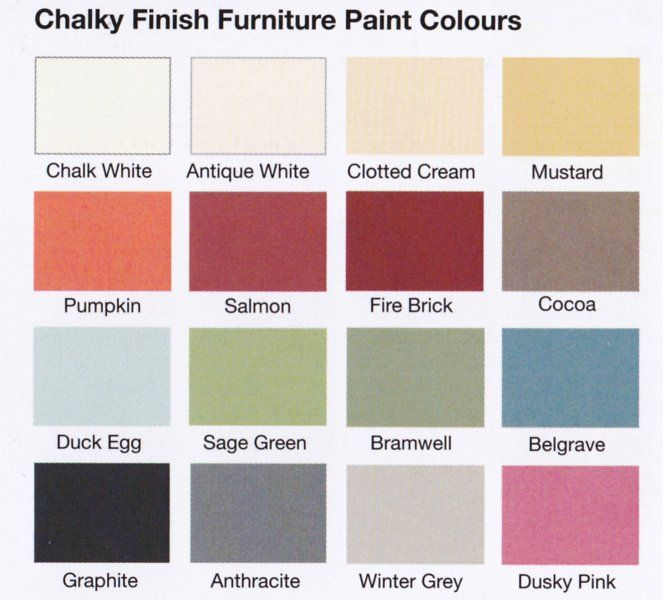 Chalk Furniture Paint Colours Easy