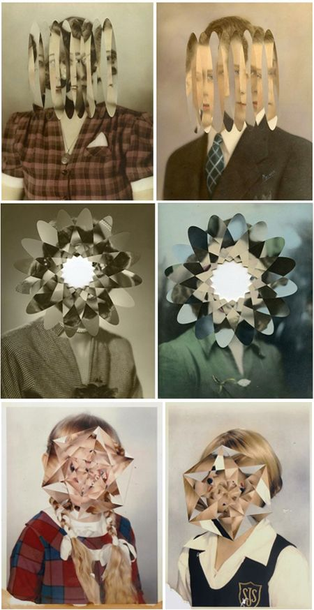 The Jealous Curator amazing kaleidoscope-ish configurations. London based artist Julie Cockburn,