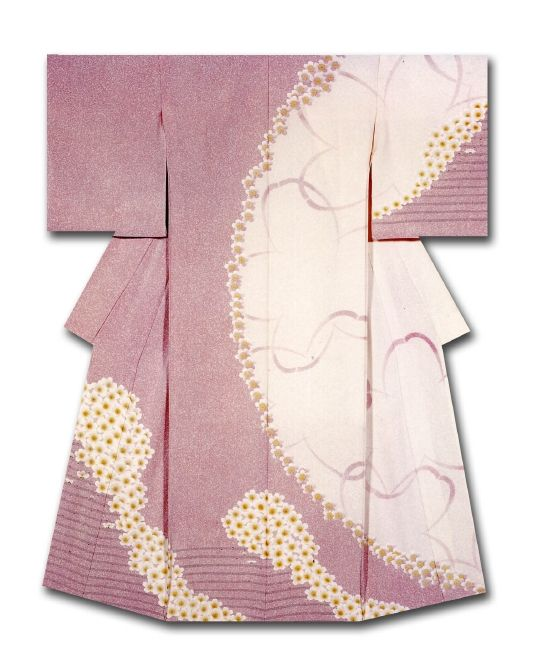 """""""Chunyang"""". Kimono created and named by Tani Yuri.   """"Fine work"""" Award  at the 31st Annual Meeting of the Japanese textile artist Exhibition award.  Japan"""