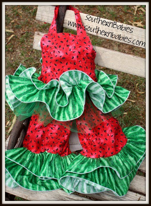 3 Piece Watermelon Cutie Pageant Set OOC by SouthernBabiesEtsy, $125.00