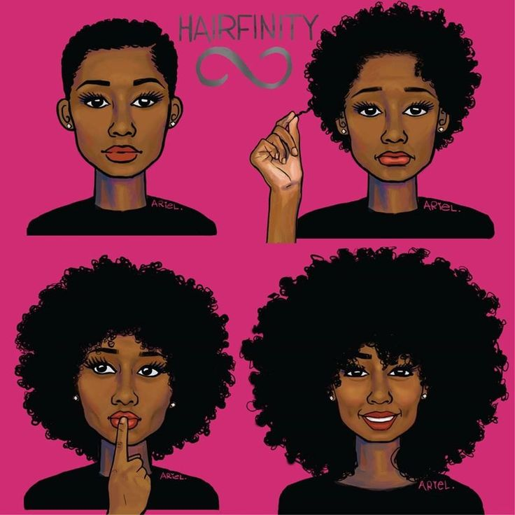 """8 WAYS TO MAKE YOUR NATURAL HAIR GROW FASTER! >> """"From Big Chop to Big Hair. Embrace your journey...........""""  Art by keturah ariel nailah bobo  #HairFinity  #blacknaturalhair"""