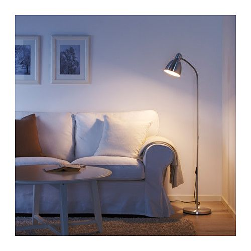 LERSTA Floor/reading lamp with LED bulb IKEA You can easily direct the light where you want it because the lamp arm is adjustable.