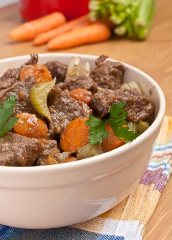 Hearty Beef Stew in a pressure cooker