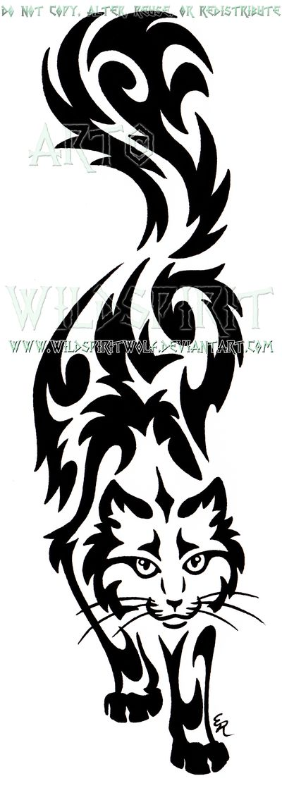 Prowling Sherlock Cat Tribal Design by WildSpiritWolf                                                                                                                                                                                 More