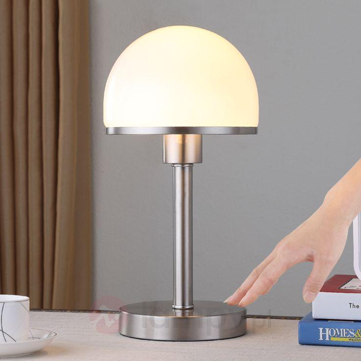 Stylowa lampa stołowa Jolie ze szklanym kloszem 9620812