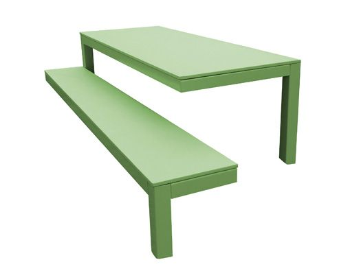 010 Outdoor Table+Bench by Guilielmus