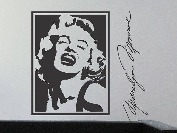 Wall Decal Marilyn Monroe Silhouette Girls Bedroom Wall