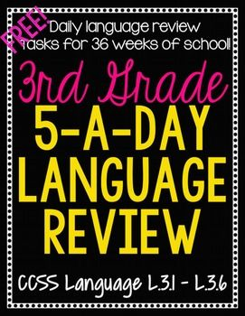 3rd Grade Daily Language Review- 1 Week FREE