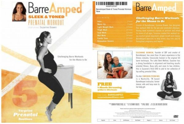 Enter to win a copy of Suzanne Bowen Fitness #BarreAmped Sleek & Toned Prenatal Workout (ends 12/04) (Open to US & Canadian residents)