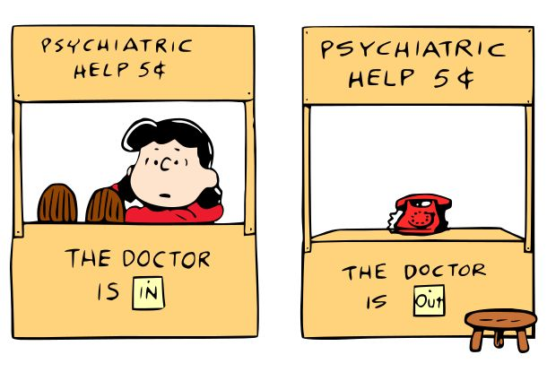 Krafty Nook: Peanuts - Lucy's Psychiatric Help Stand