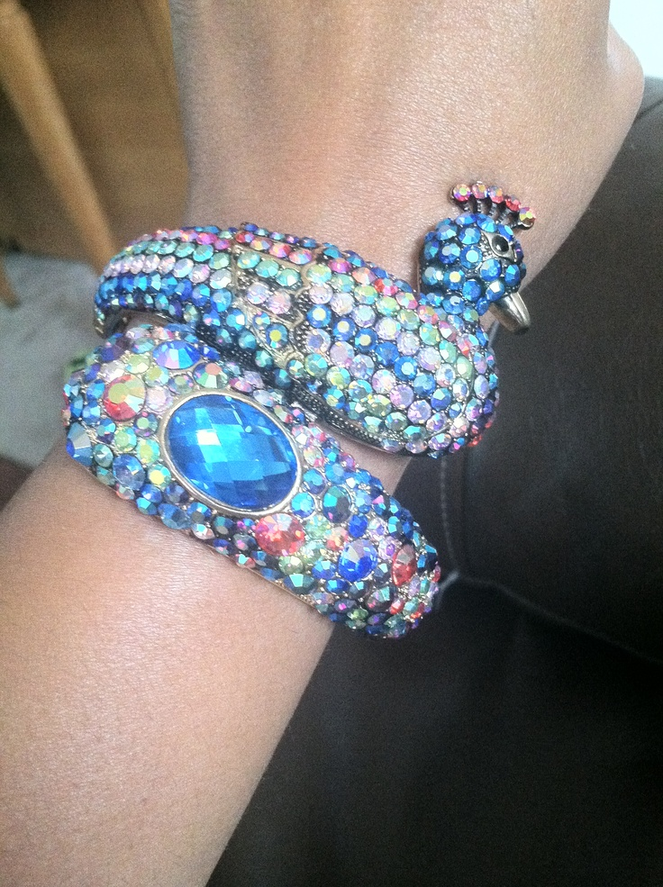 Peacock bracelet from Jewels for Gems!