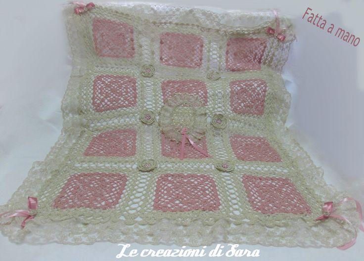 Crochet Baby blanket. Copertina culla all'uncinetto