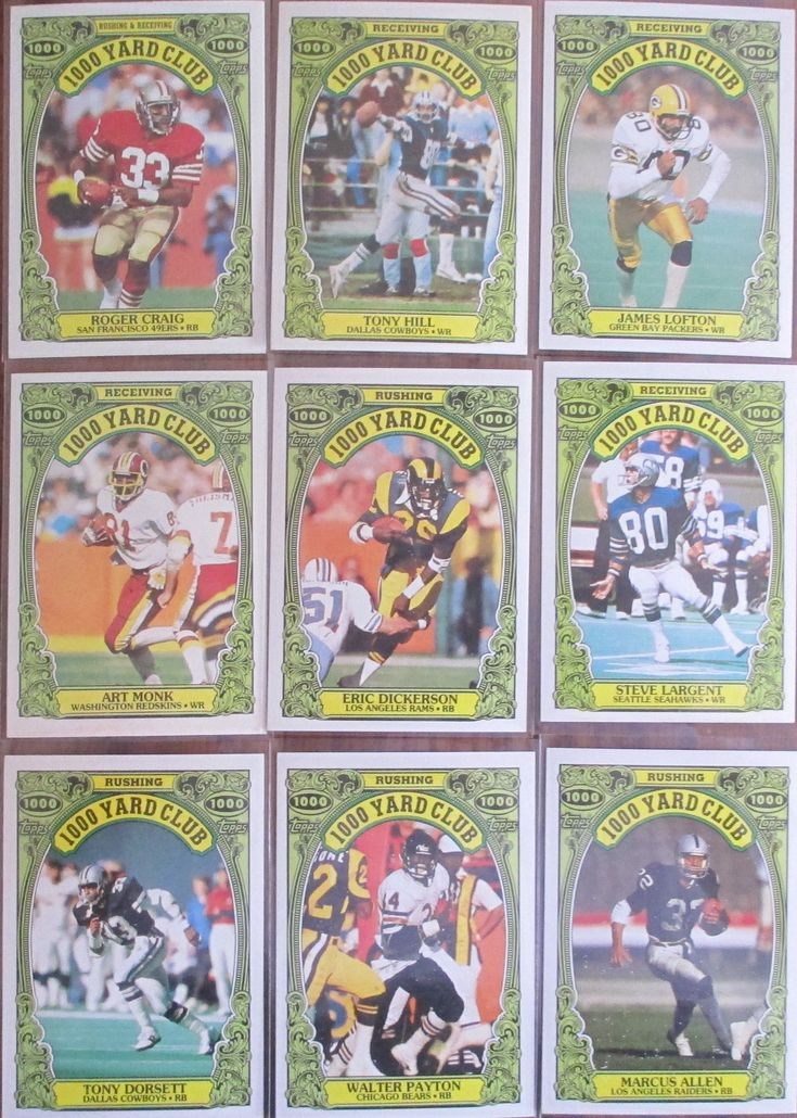 1986 topps 1000 yard club sports cards baseball cards