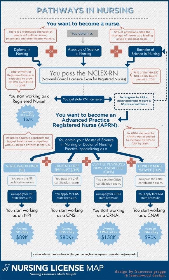 Nursing Degree Flow Chart