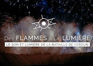 Le spectacle « Des flammes... à la lumière »  chaque vendredi et samedi soir du 16 juin au 29 juillet 2017  (sauf 14 juillet)