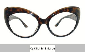 Mary J Cat Eye Glasses - 132 Tortoise