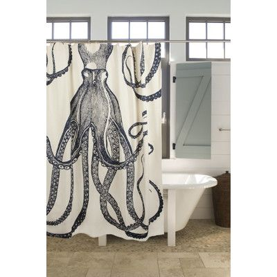 Thomas Paul Bath Cotton Octopus Shower Curtain