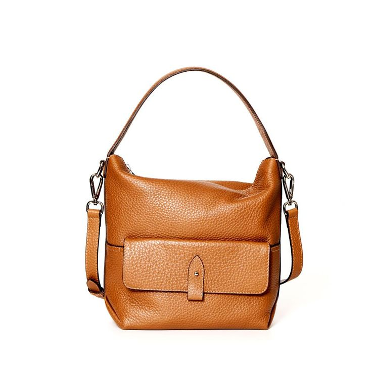 DECADENT 211 Small shoulder bag with pocket Cognac