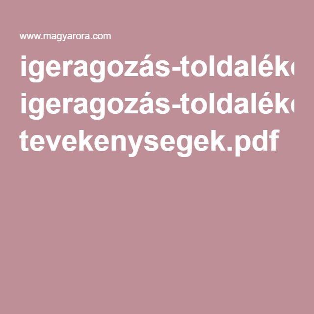 igeragozás-toldalékok tevekenysegek.pdf