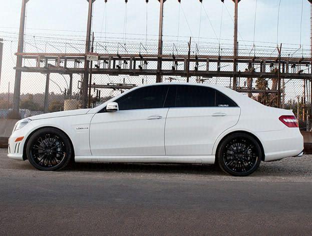 Mercedes e class with matte black rims rims pinterest for Black rims for mercedes benz e350