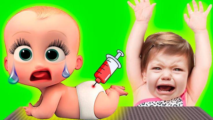 Крошка малыш Как БОСС молокосос ВРЕДНЫЕ ДЕТКИ Купается У доктора Веселит...