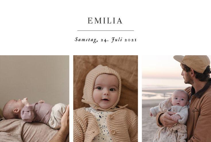Die Geburtskarte Sweet Moments (Querformat) ist die ideale ...