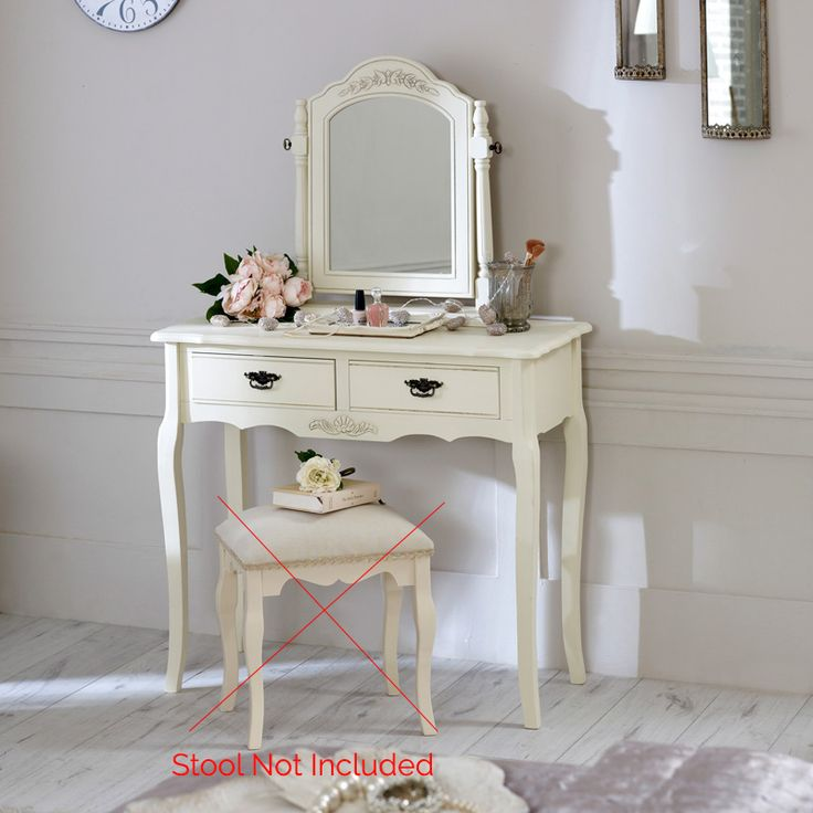 Belgravia Range - Cream Dressing Table and Mirror Set - Melody Maison®