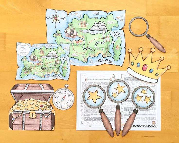Lesespur-Abenteuer für die Grundschule: Die Suche nach dem Goldschatz