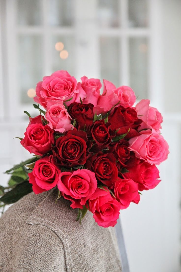 red & pink bouquet