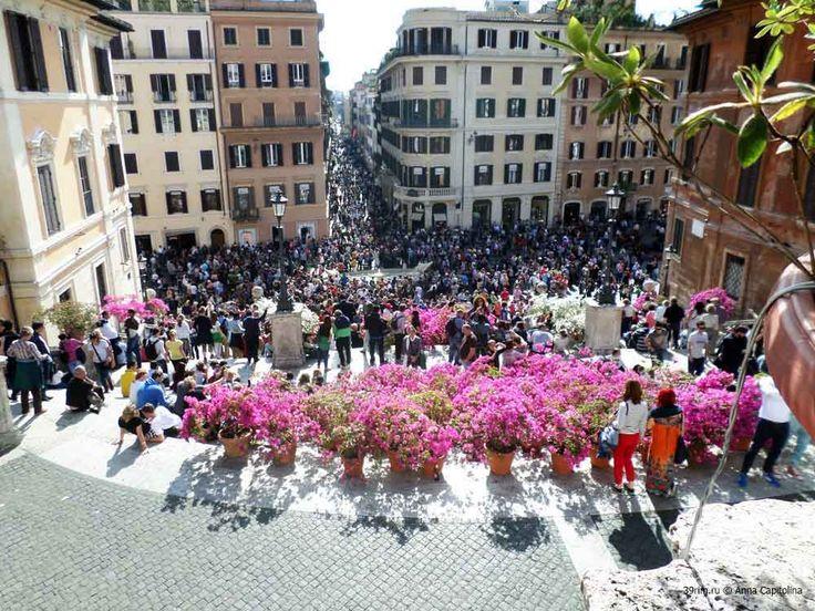 Со смотровых площадок Испанской лестницы открывается вид на знаменитую улицу