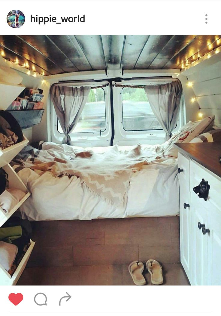 I'd live in this. One day I'll have a traveling van!                                                                                                                                                                                 More