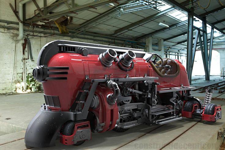 (102) Steampunk Tendencies- Off Rail Steam Locomotive by Ricardo Chamizo