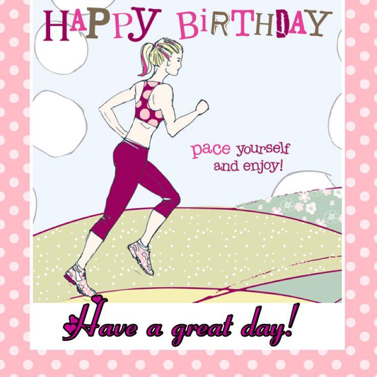 Открытки с днем рождения спортивная девушка