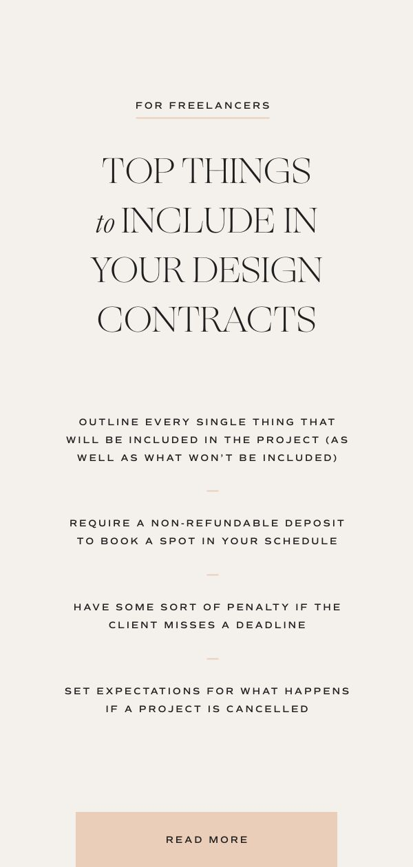 6 Things That You Need In Your Contract Wayfarer Design Studio Graphic Design Business Business Design Graphic Design Tips