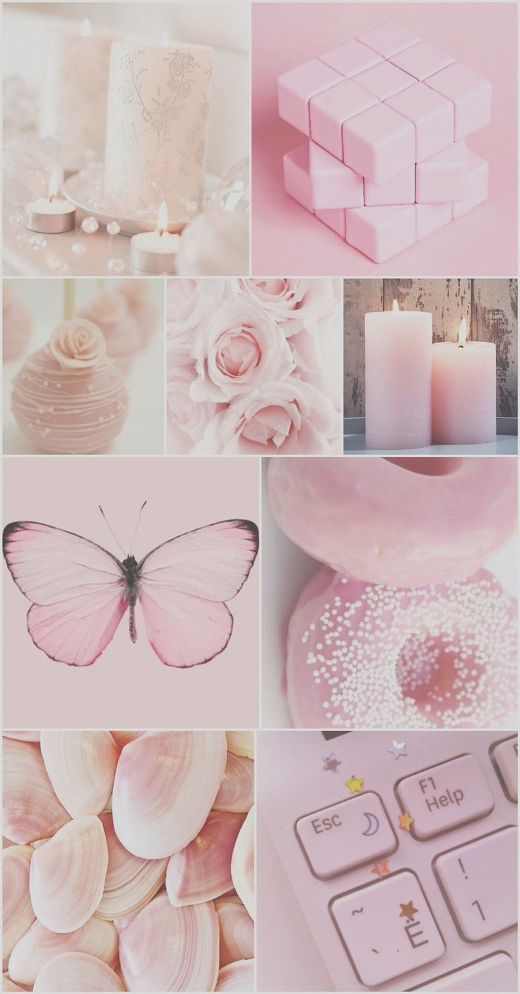 aesthetic pink backgrounds pastel collage wallpapers iphone phone rose hd butterfly pretty fondos rosa pale pantalla kawaii blush donut board