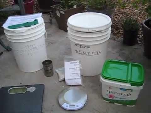 Mittleider Garden: Weekly Feed Fertilizer Recipe, Sustainable Gardening