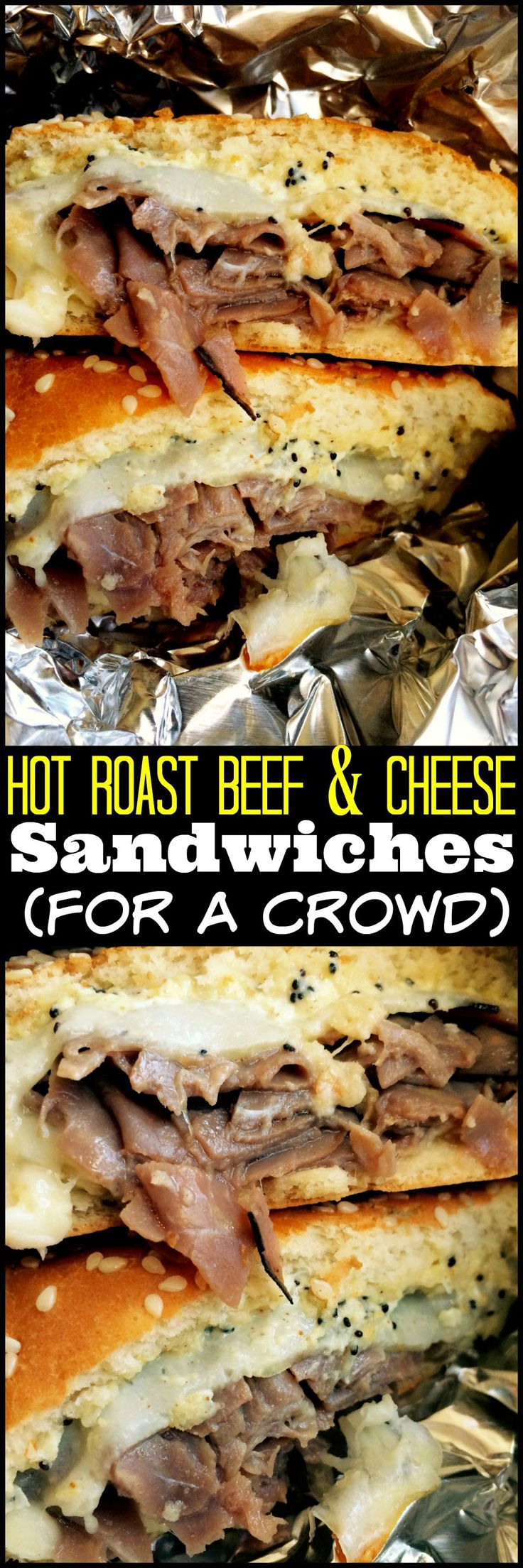 Hot Roast Beef & Cheese Sandwiches (for a crowd) | Aunt Bee's Recipes
