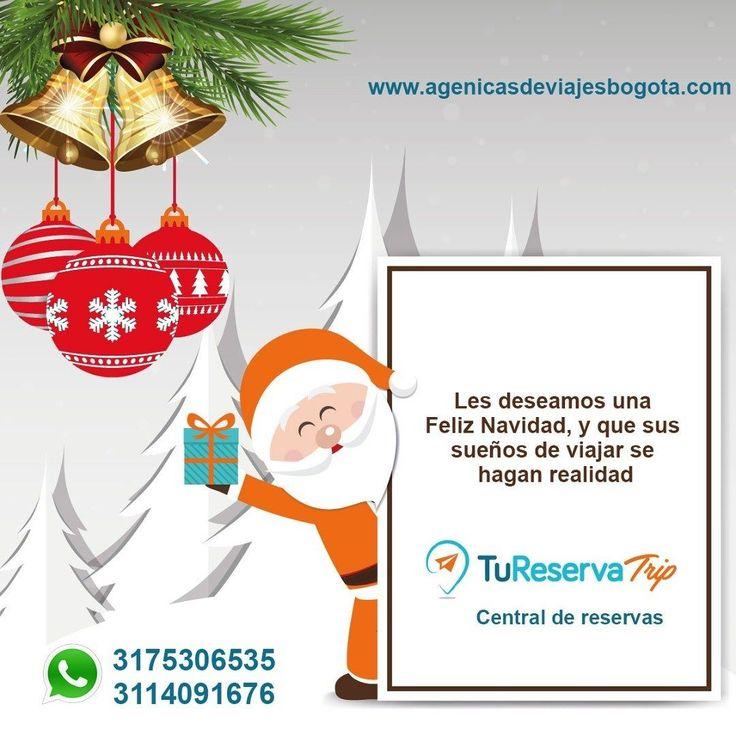 Feliz Navidad le deseamos a todos nuestros viajeros! Que esta Navidad cumplan su sueño de viajar!  Te asesoramos vía WhatsApp: 3175306535 - 3114057177 http://bit.ly/2DCzPIJ #viajar #vacaciones #feliznavidad #sueños #familia #amigos