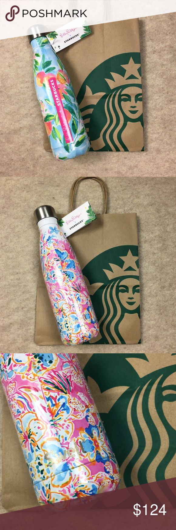 Lilly Pulitzer Starbucks Floral Swell Bottle Rare New with Tags Lilly Pulitzer + Starbucks Collaboration White Floral Print Swell Bottle 17 oz Limited Edition Rare Lilly Pulitzer Other