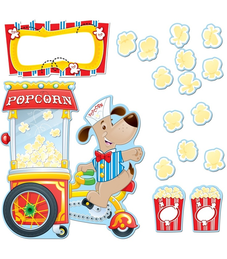 Poppin' Popcorn Bulletin Board Set - Carson Dellosa Publishing Education Supplies