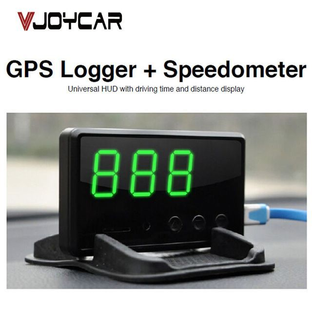 Lucky Deal $29.90, Buy VJOYCAR C61 Car GPS Data Logger + Hud Head Up Speedometer Mileage Display 2 In 1 Device