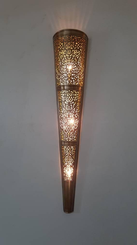 Moroccan Lamp Moroccan Sconce Wall Sconce Traditional Etsy In 2020 Wall Sconces Moroccan Lamp Sconces