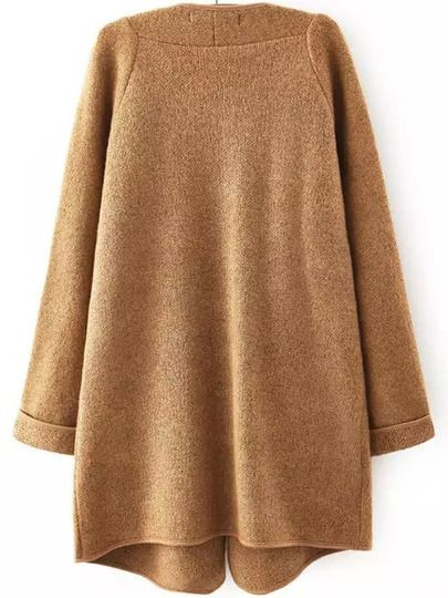 Shop Khaki Lapel Long Sleeve Loose Sweater Coat online. SheIn offers Khaki Lapel Long Sleeve Loose Sweater Coat & more to fit your fashionable needs.